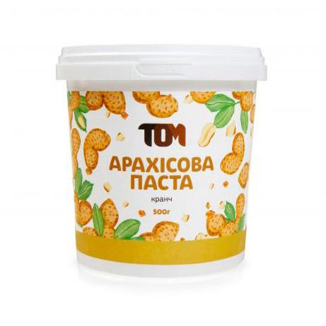 Арахисовая паста TOM peanut butter Арахісова Паста 500 g