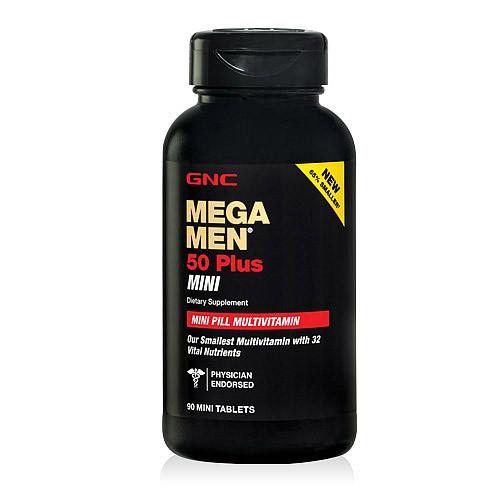 Витамины для мужчин 50+ GNC Mega Men 50 Plus mini 90 mini tablets