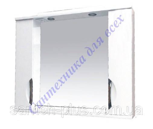 Зеркало для ванной комнаты с 2 пеналами и подсветкой Грация-85, фото 2