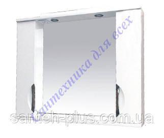 Зеркало для ванной комнаты с 2 пеналами и подсветкой Грация-85