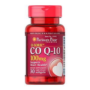 Коэнзим Puritan's Pride CO Q-10 100 mg 30 softgels
