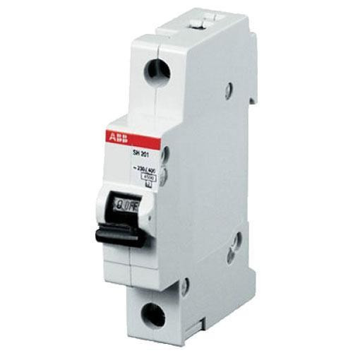 Автоматический выключатель ABB SH201-C 63 (1п, 63A, Тип C, 6kA) 2CDS211001R0634