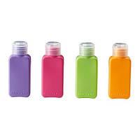 "IKEA ""УПТЭККА"" Бутылка, разные цвета, 4шт/комплект"