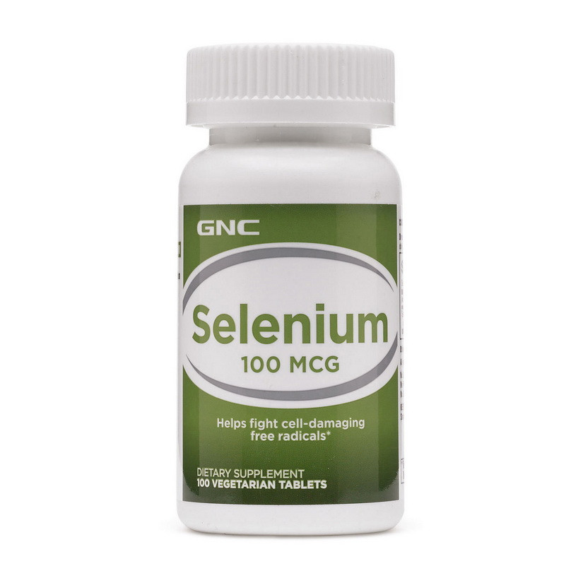 Селен GNC Selenium 100 mcg 100 veg tabs