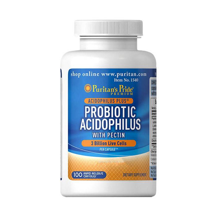 Пробиотики Puritan's Pride Probiotic Acidophilus with Pectin 100 caps