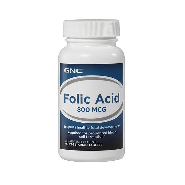 Фолиевая кислота GNC Folic Acid 800 mcg 100 veg tab