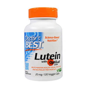 Doctor's Best Lutein with OptiLut 20 mg (120 veg caps)