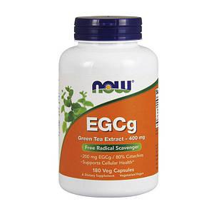 Экстракт зеленого чая NOW EGCg Green Tea Extract 400 mg 180 veg caps