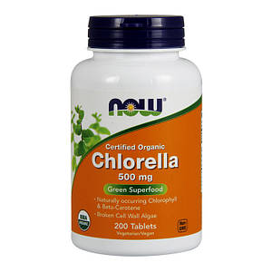 Хлорелла NOW Chlorella 500 mg 200 tab
