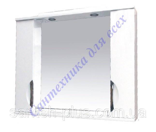 Зеркало для ванной комнаты с 2пеналами и подсветкой Грация-95