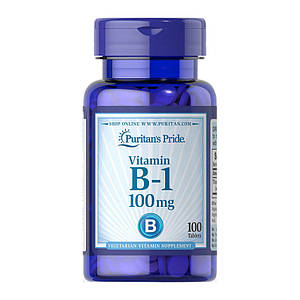 Тиамин, Витамин В1 Puritan's Pride Vitamin B-1 100 mg 100 tablets