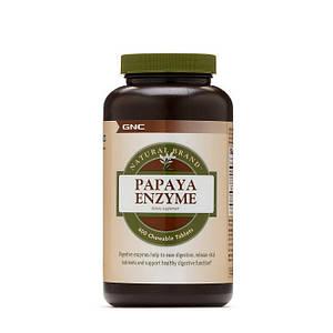 Пищеварительные ферменты папаин GNC Papaya Enzyme 600 chewable tabs
