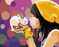 РукИТвор Картина по номерам (MR-Q2105) Девочка с кроликом
