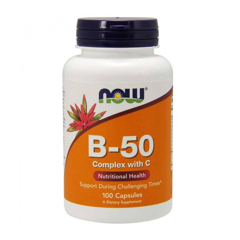 Витамин B NOW B-50 Complex with C 100 caps