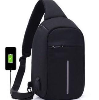 Сумка антивор через плечо Buddy Bag чёрная