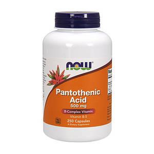 Пантотеновая кислота NOW Pantothenic Acid 500 mg 250 caps