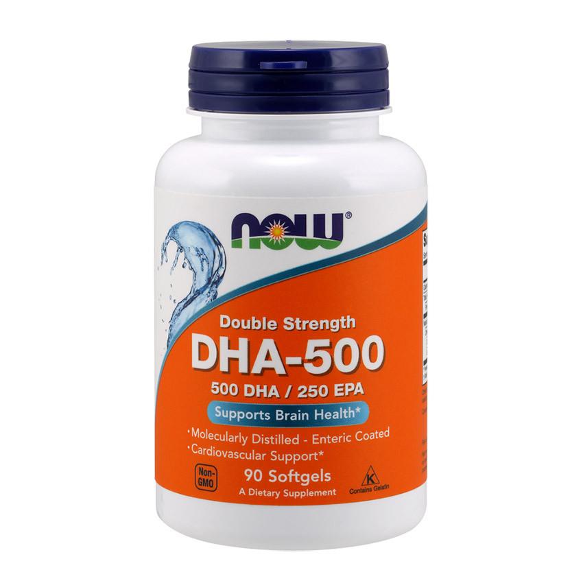 Рыбий жир, Омега 3 NOW DHA-500/250 EPA 90 softgels