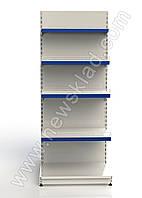 Стелаж прямий двосторонній приставний 2350*950 мм,Стеллаж прямой двухсторонний приставной 2350*950 мм 10 полок