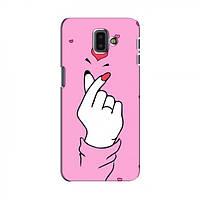 Чохол з принтом для Samsung J6 Plus, J6 Плюс 2018 (J610) (AlphaPrint - Знак сердечка) (Самсунг Джей 6 плюс, Джі 6 плюс, Дж 6 плюс, Ж 6 плюс)