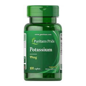 Калий Puritan's Pride Potassium 99 mg 100 caplets