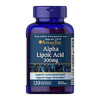 Альфа липоевая кислота Puritan's Pride Alpha Lipoic Acid 300 mg 120 softgels