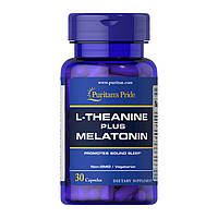 Мелатонин Puritan's Pride L-Theanine plus Melatonin 30 caps