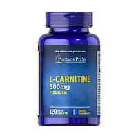 Л-карнитин Puritan's Pride L-Carnitine 500 mg 120 caplets