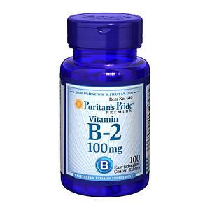 Рибофлавин, Витамин B-2 Puritan's Pride Vitamin B-2 100 mg 100 tab
