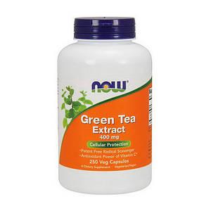 Зеленый чай NOW Green Tea Extract 400 mg 250 veg caps
