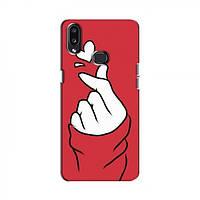 Чехол с принтом для Samsung Galaxy A10s (A107) (AlphaPrint - Знак сердечка) (Самсунг )