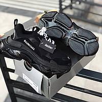 Стильные женские кроссовки Balenciaga Triple S clear sole Black