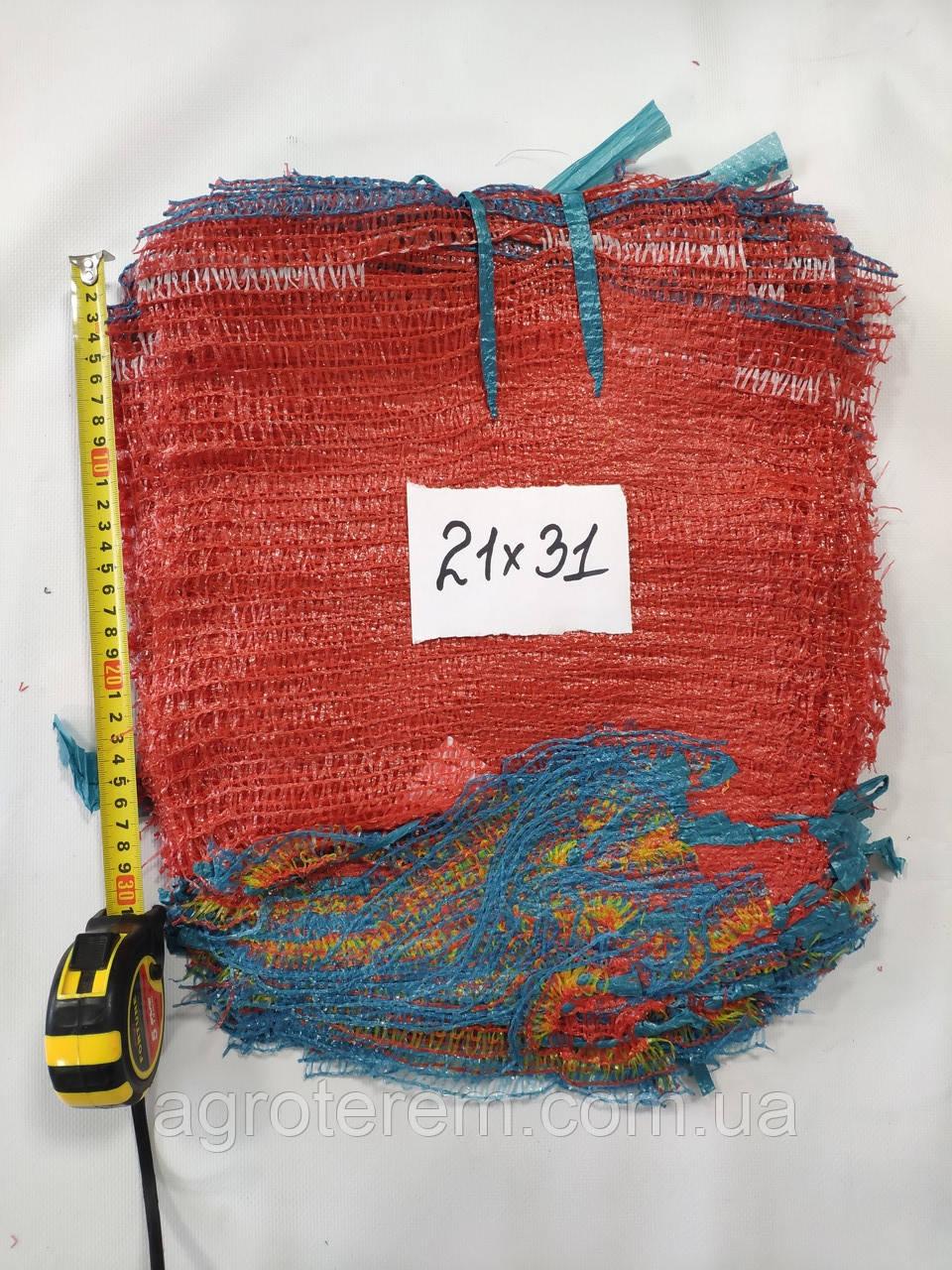 Сетка овощная 21х31  до 3 кг (100шт) красная