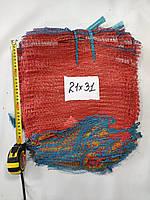 Сетка овощная 21х31  до 3 кг (100шт) красная, фото 1