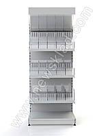 Стеллаж для кондитерки 2350х1200 мм торговый приставной