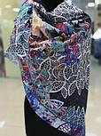 Платок хлопковый 10309-18, павлопосадский платок хлопковый (батистовый) с швом зиг-заг, фото 6