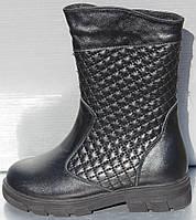 Сапоги черные зимние для девочки от производителя модель О-103, фото 1