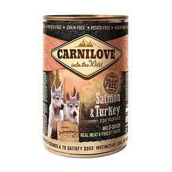 Корм консерва Carnilove Карнілав для цуценят з лососем та індичкою 400 г