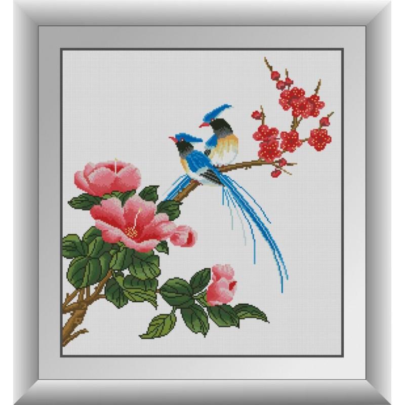 Алмазная живопись Райские птицы Dream Art 30877 (53 x 58 см)