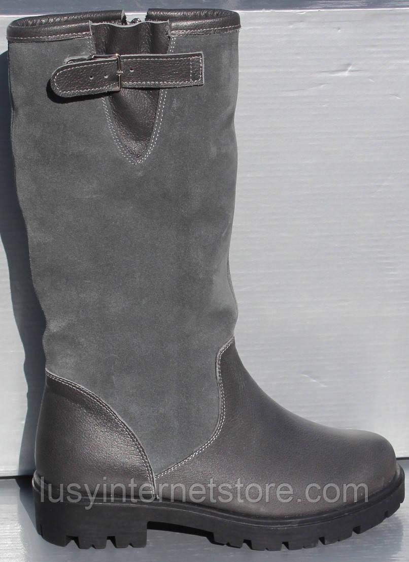 Сапоги зимние серые для девочки от производителя модель О-110