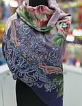 10467-14, павлопосадский платок шерстяной (разреженная шерсть) с швом зиг-заг, фото 6