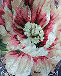 10467-14, павлопосадский платок шерстяной (разреженная шерсть) с швом зиг-заг, фото 7