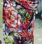 Палантин из вискозы 10695-5, павлопосадский палантин из вискозы, размер 65х200, фото 5