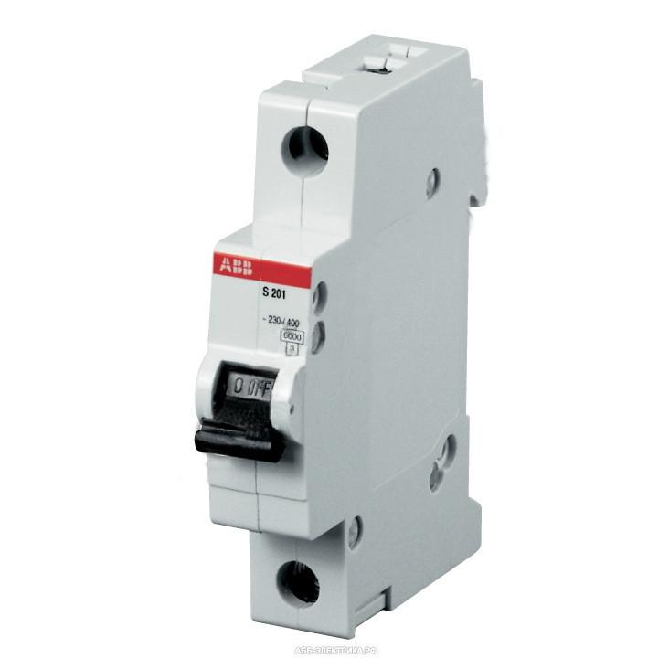 Автоматический выключатель ABB S201M-C6 (1п, 6A, Тип C, 10kA) 2CDS271001R0064