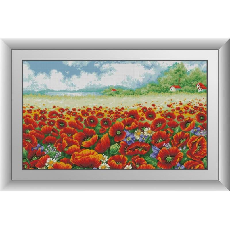 Набор алмазной живописи Пейзаж с маками Dream Art 30879 (57 x 97 см)