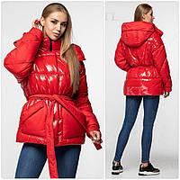 Коротка і тепла, зручна і стильна, зимова жіноча куртка з колекції Kattaleya ЗИМА 2019-2020! Красный, 44
