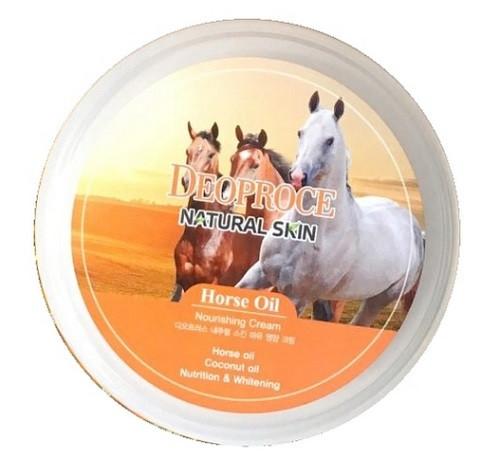 Питательный крем с лошадиным маслом Deoproce Natural Skin Horse Oil Nourishing cream