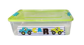 Пластиковый контейнер для игрушек Smart box с декором My Car 14 л, фото 2