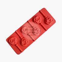 Силиконовая форма для шоколада - Розы, фото 1