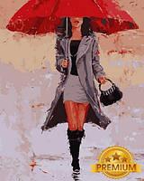 Картина по номерам 40×50 см. Babylon Premium (цветной холст + лак) Большой Красный Художник Лаура Ли Зангетти (NB 835)