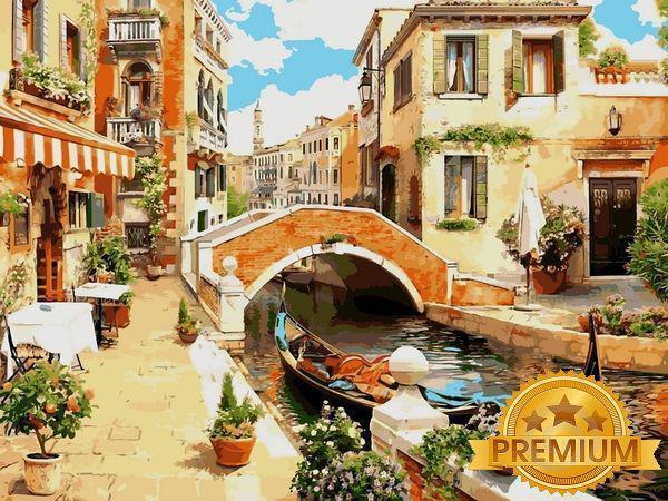 Картина за номерами 40×50 див. Babylon Premium (кольоровий полотно + лак) Венеціанський місток (NB 030)
